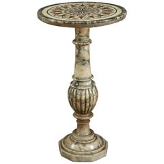 19th Century Italian Alabaster and Marble Gueridon Table