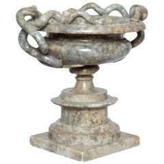 19th Century Italian Alabaster Tazza or Vase