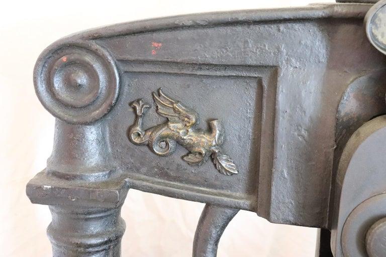 19th Century Italian Antique Large Museum Iron Book Press For Sale 2