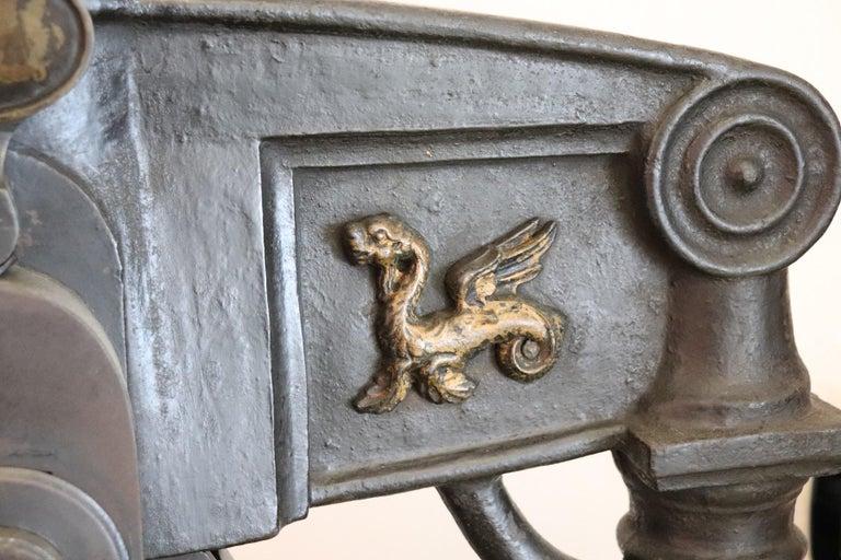 19th Century Italian Antique Large Museum Iron Book Press For Sale 3