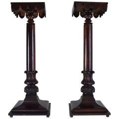 19th Century Italian Antique Pedestals Columns