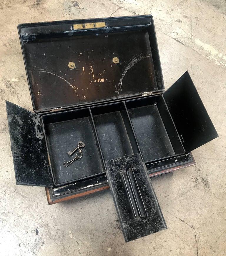Mid-20th Century 19th Century Italian Antique Safe Iron Box For Sale