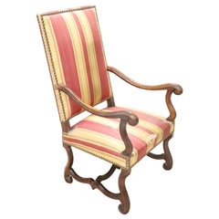 19th Century Italian Antique Walnut Armchair