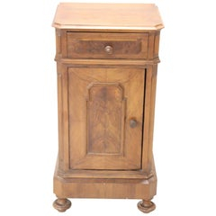 19th Century Italian Antique Walnut Wood Nightstand