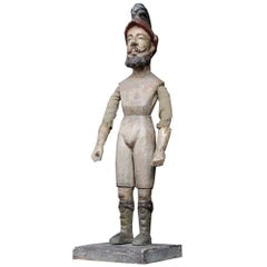 19th Century Italian Articulated Wooden Figure