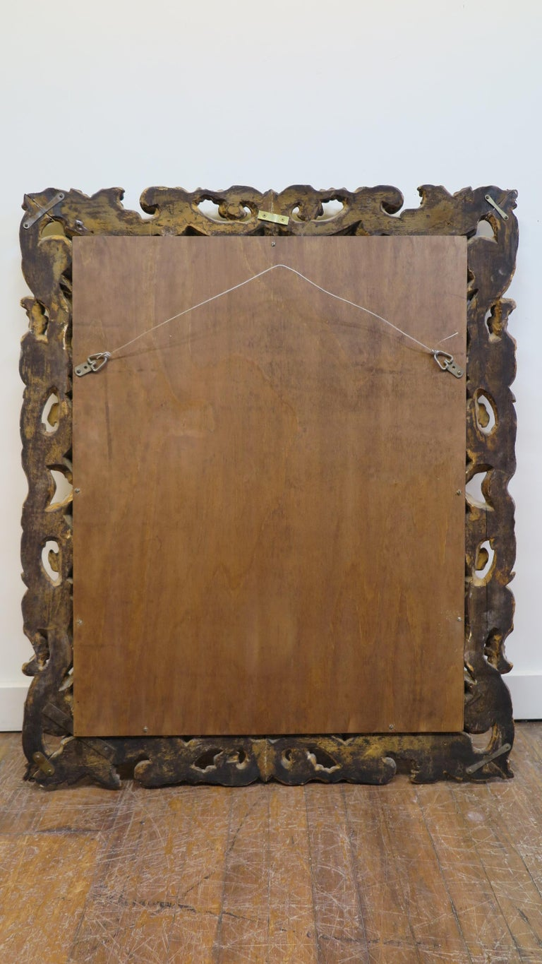19th Century Italian Baroque Carved Mirror For Sale 4