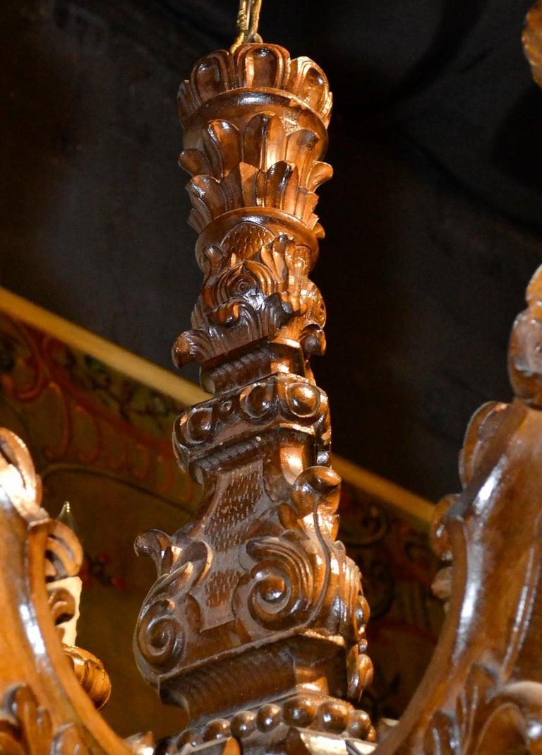 19th Century Italian Baroque Chandelier For Sale 1