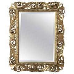 19th Century Italian Baroque Gilded Mirror