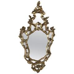 19th Century Italian Baroque Giltwood Mirror