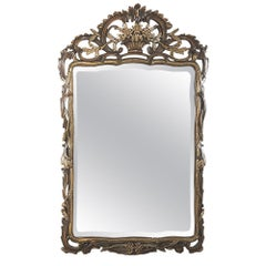 19th Century Italian Baroque Hand Carved Giltwood Mirror