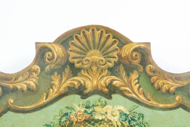 19th Century Italian Baroque Polychrome Cassapanca Wood Storage Hall Bench For Sale 2