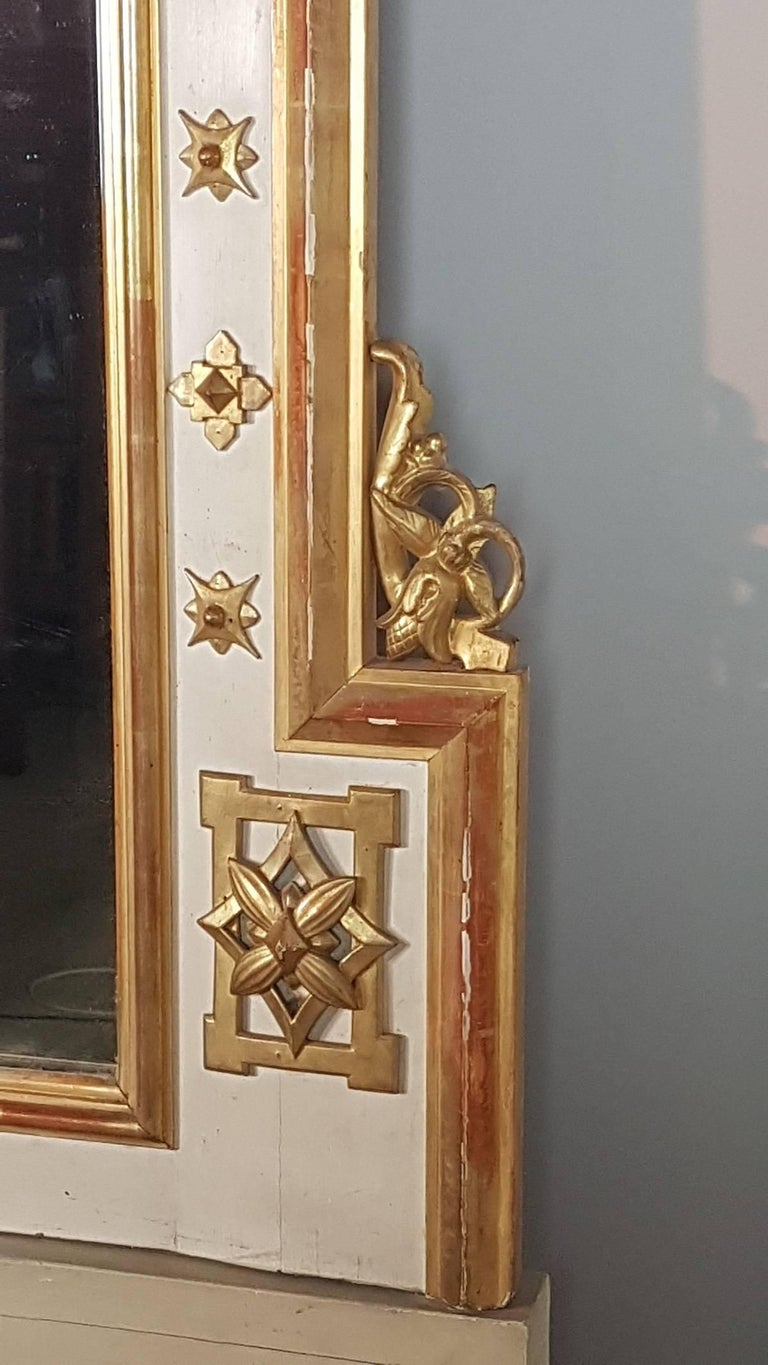 19th Century Italian Baroque Style Carved Lacquered Golden