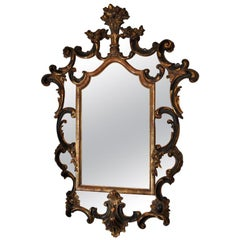 19th Century Italian Baroque Style Parcel-Gilt Mirror