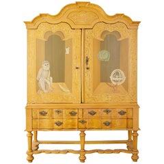 19th Century Italian Baroque Style Trompe L'oeil Cabinet