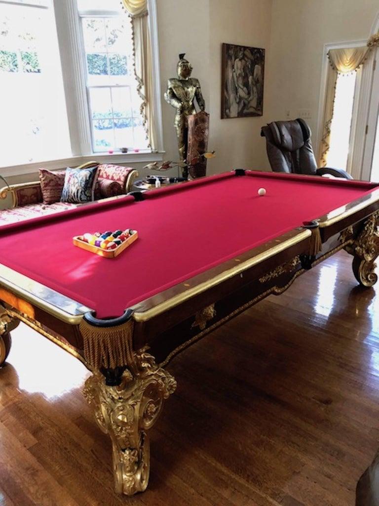 Th Century Italian Billiards Pool Table With Decorative Gilt - Italian pool table
