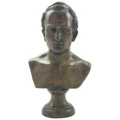 19th Century Italian Bronze Bust of Roman Senator Cicero