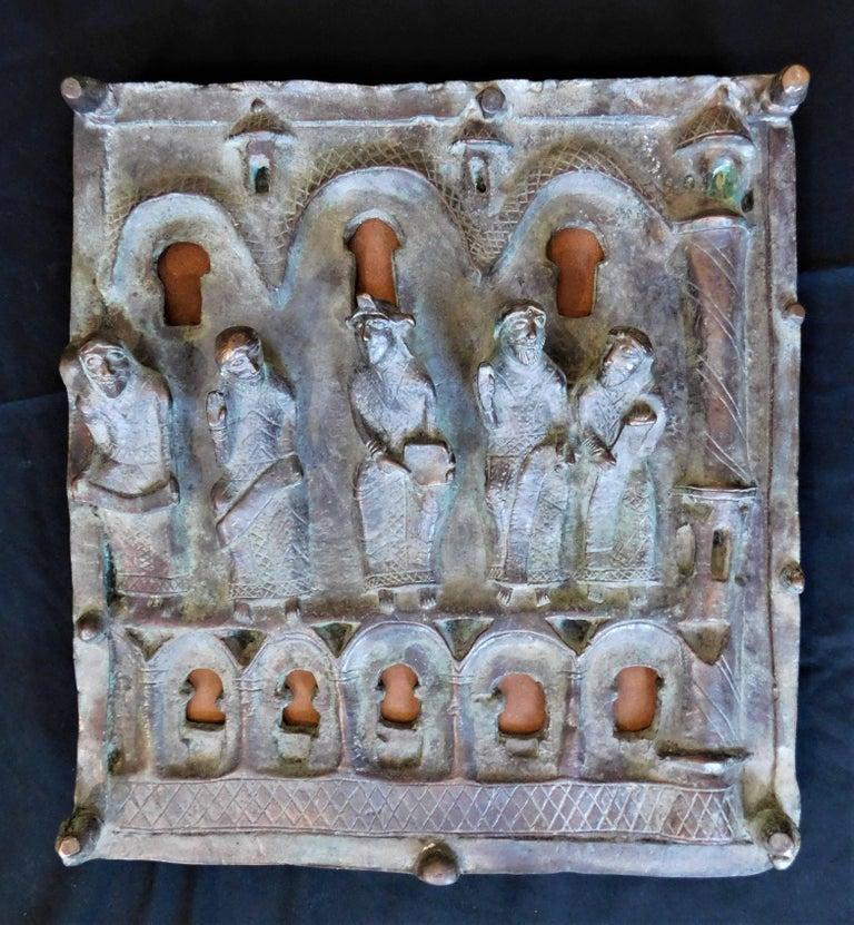 19th Century Italian Bronze Church Door Panel