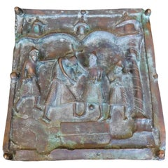 "19th Century Italian Bronze Church Door Panel ""Stations of the Cross"" Ortisei"