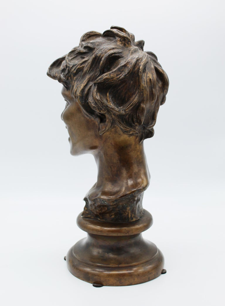 19th Century Italian Bronze Sculpture of Young Boy Signed by Vincenzo Gemito 6