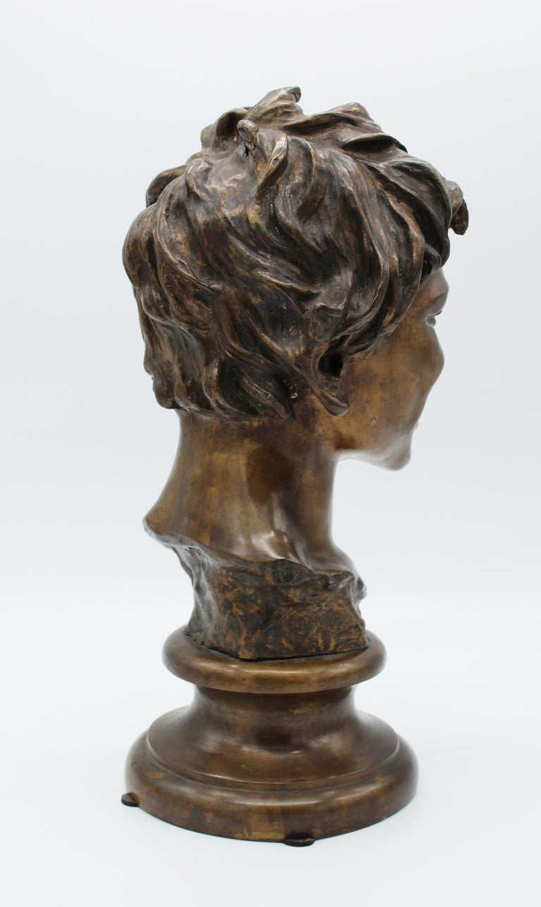 19th Century Italian Bronze Sculpture of Young Boy Signed by Vincenzo Gemito 11