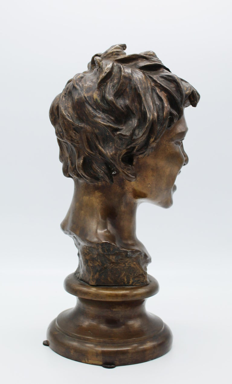 19th Century Italian Bronze Sculpture of Young Boy Signed by Vincenzo Gemito 12