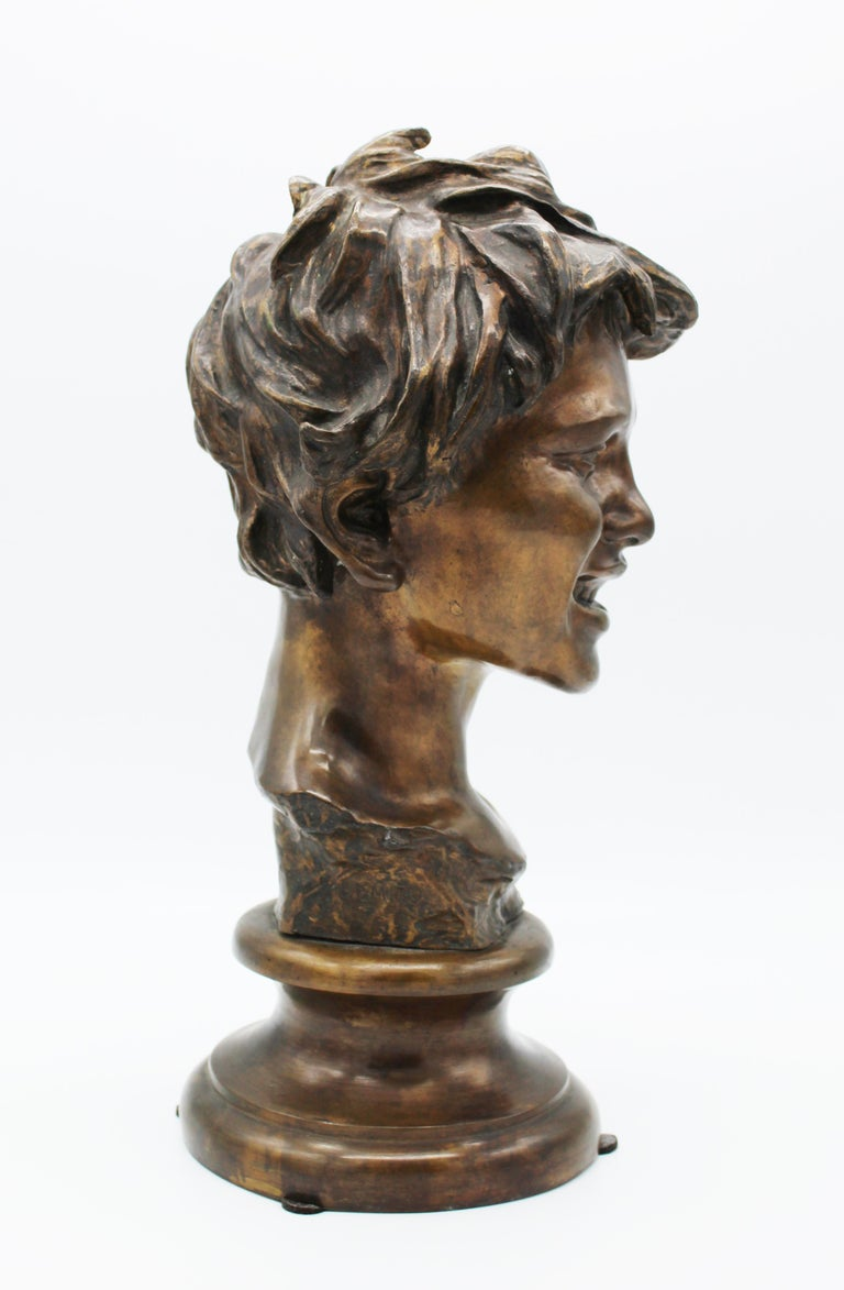 19th Century Italian Bronze Sculpture of Young Boy Signed by Vincenzo Gemito 13