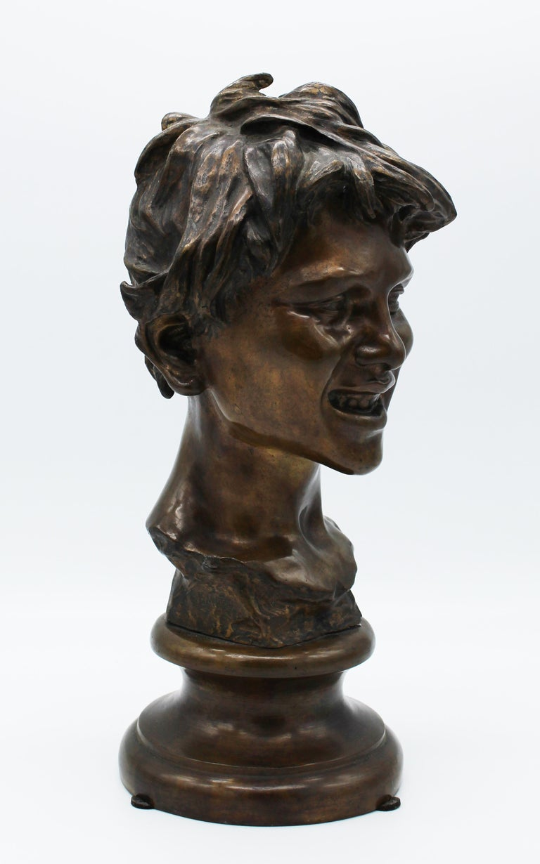 19th Century Italian Bronze Sculpture of Young Boy Signed by Vincenzo Gemito 14
