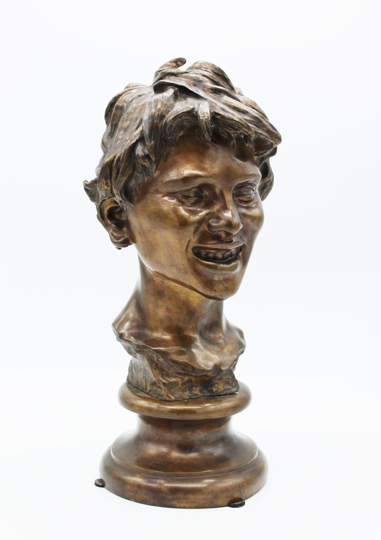 19th Century Italian Bronze Sculpture of Young Boy Signed by Vincenzo Gemito 16