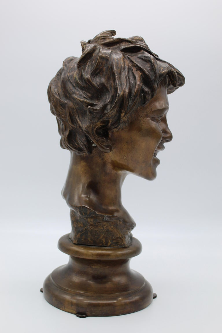 19th Century Italian Bronze Sculpture of Young Boy Signed by Vincenzo Gemito 3