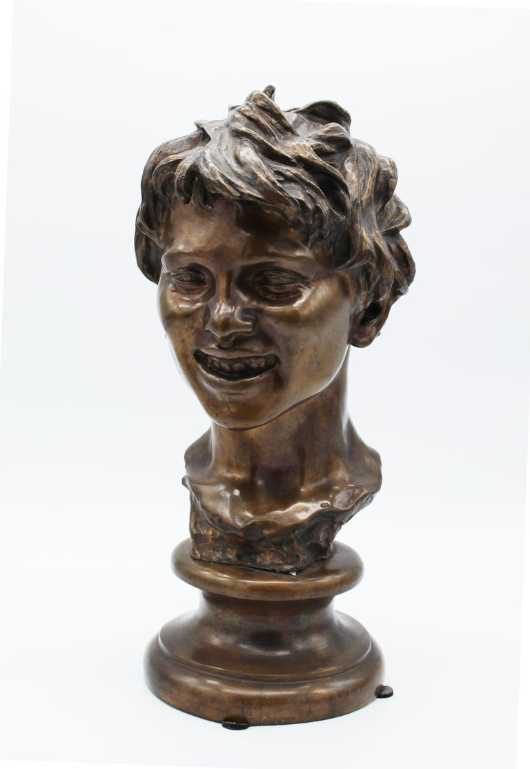 19th Century Italian Bronze Sculpture of Young Boy Signed by Vincenzo Gemito 4