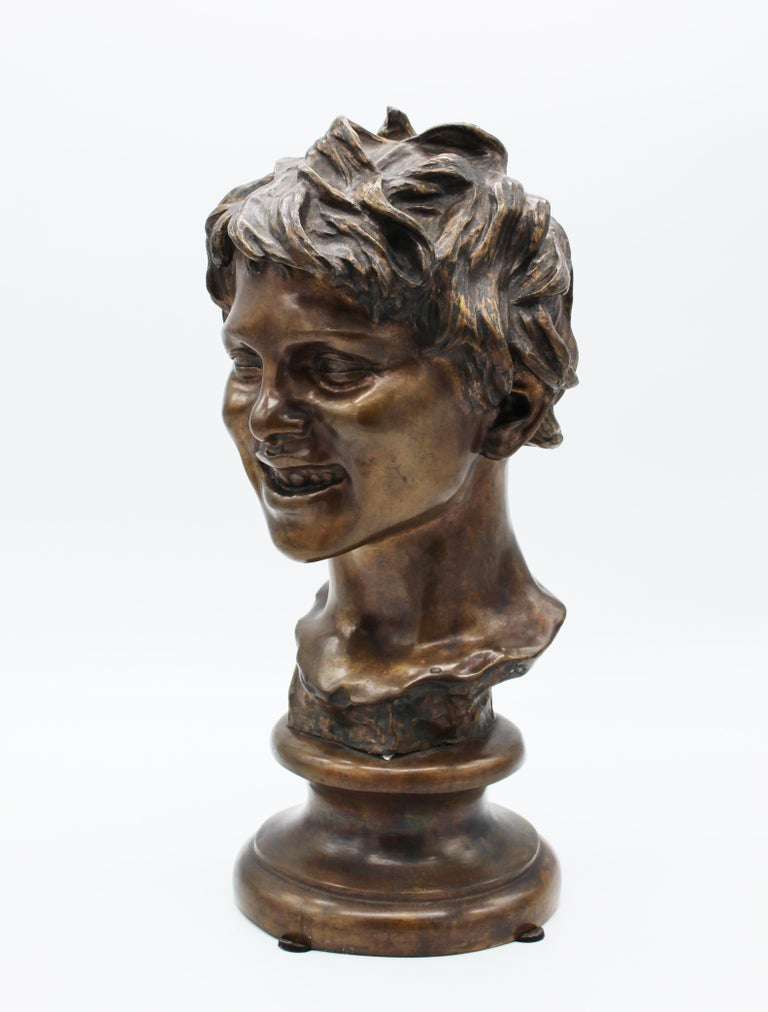 19th Century Italian Bronze Sculpture of Young Boy Signed by Vincenzo Gemito 5