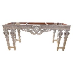 19th Century Italian Carved and Bleached Console