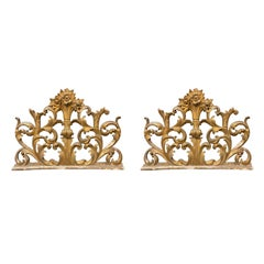 19th Century Italian Carved and Giltwood Architectural Fragments