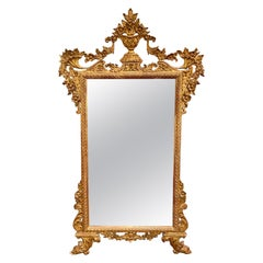 19th Century Italian Carved and Giltwood Mirror