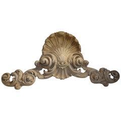 19th Century Italian Carved Architectural Pediment
