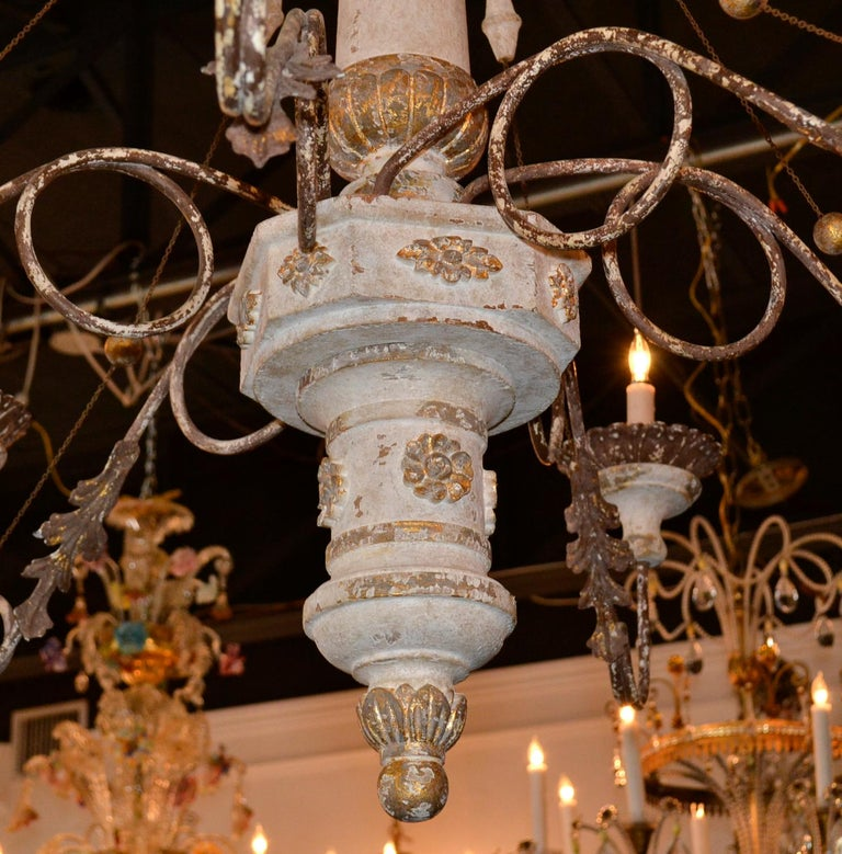 19th Century Italian Carved Chandelier 2