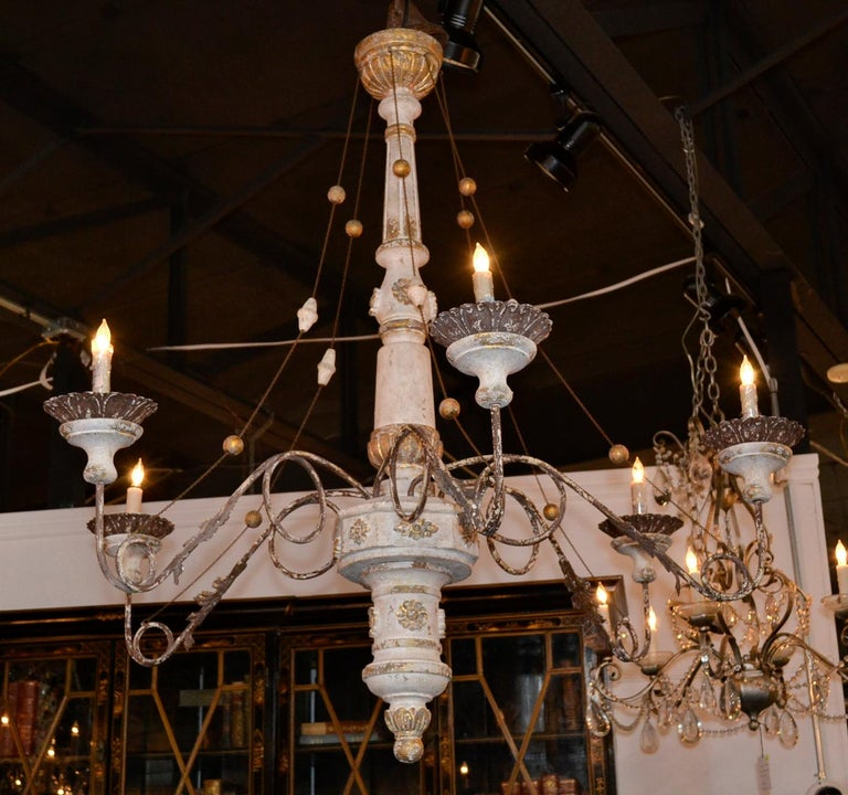 19th Century Italian Carved Chandelier 3