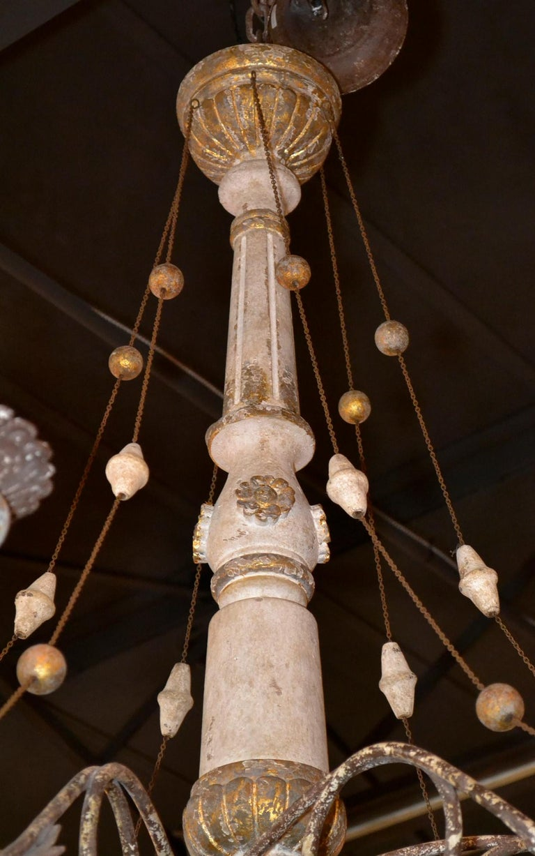 19th Century Italian Carved Chandelier 4
