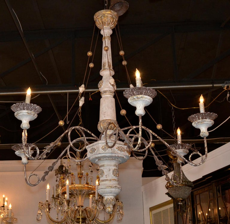 19th Century Italian Carved Chandelier 5