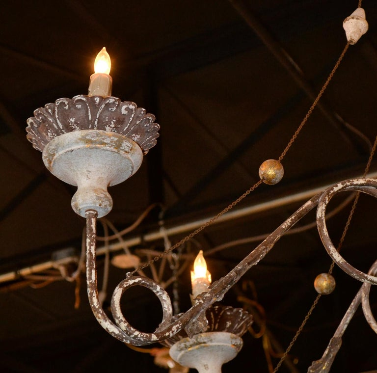 19th Century Italian Carved Chandelier 6