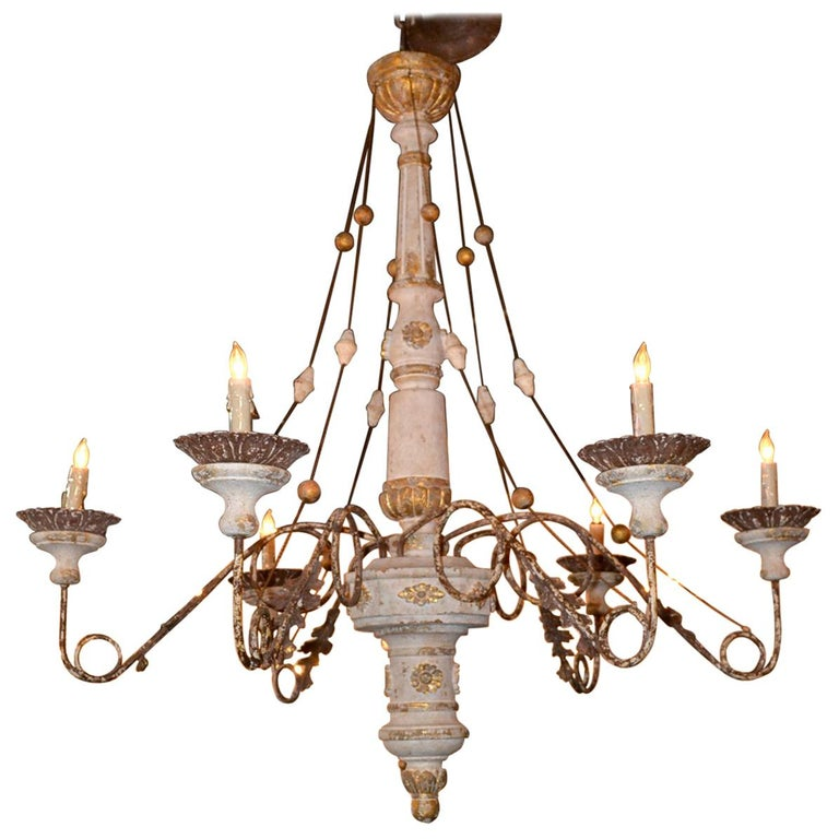 19th Century Italian Carved Chandelier 1