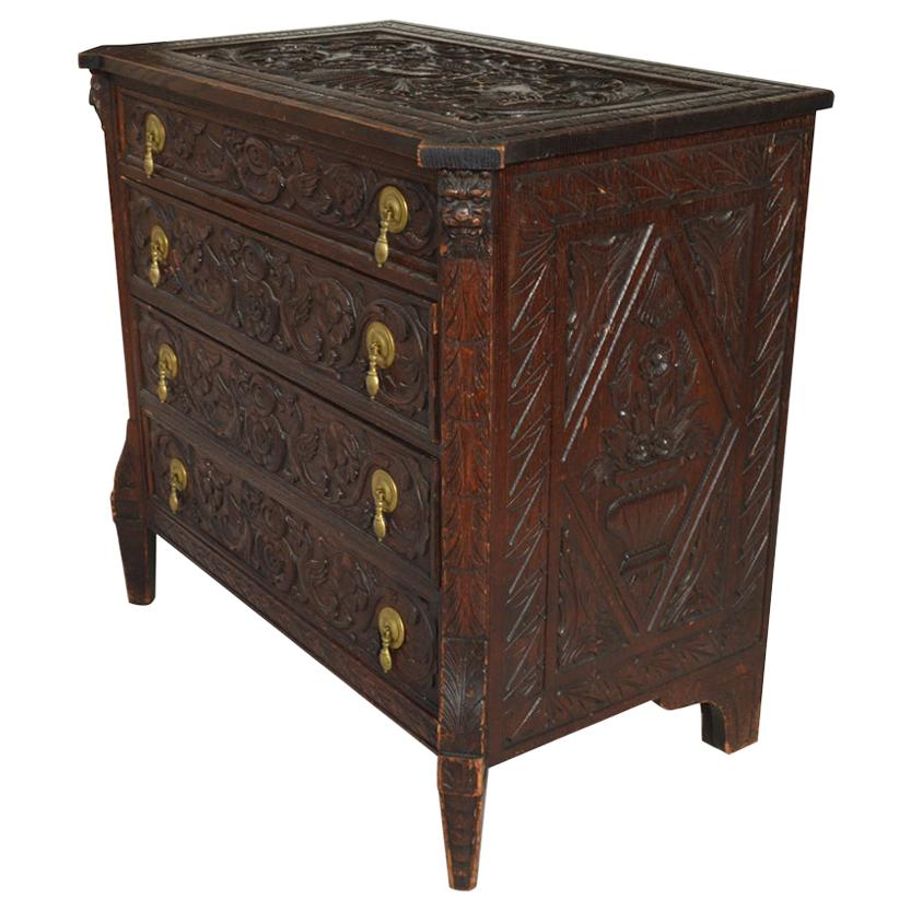 19th Century Italian Carved Dresser