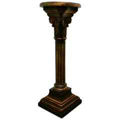 19th Century Italian Carved Gilt Wood Column Display Pedestal
