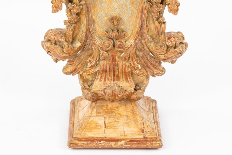 19th Century Italian Carved Giltwood Console In Good Condition For Sale In Los Angeles, CA