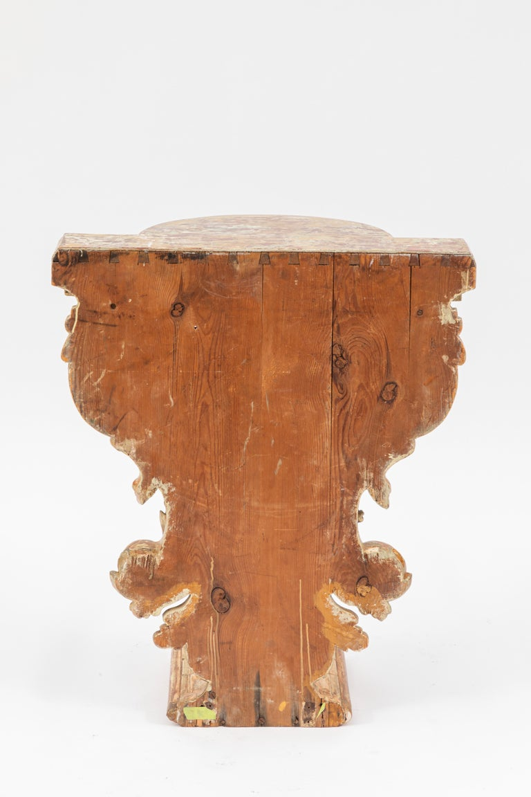 19th Century Italian Carved Giltwood Console For Sale 2