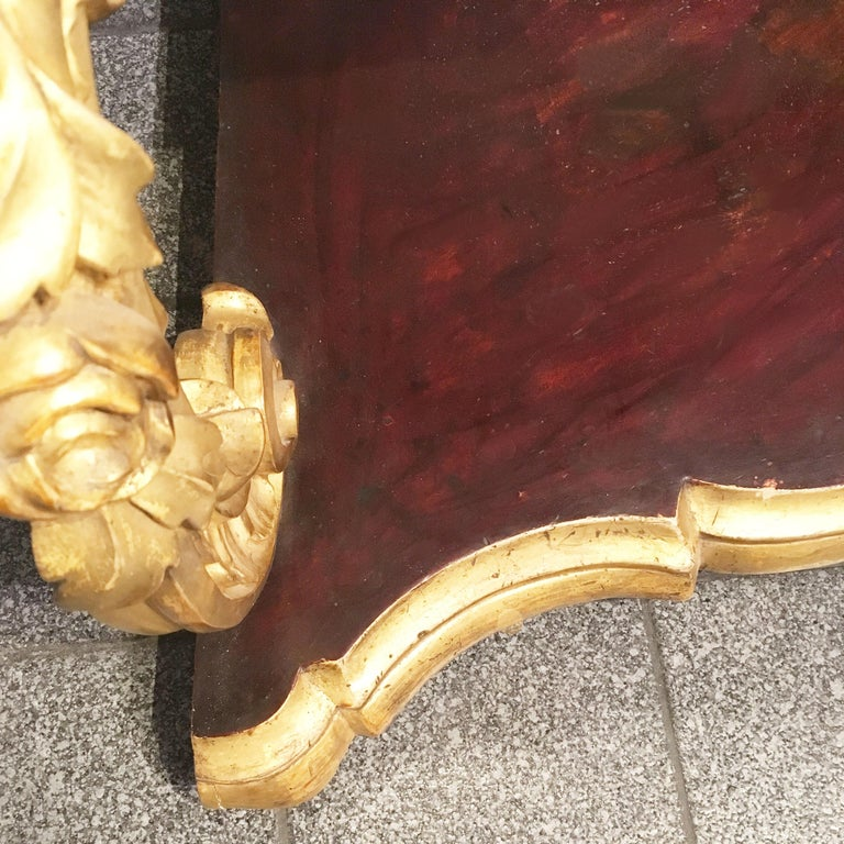 19th Century Italian Carved Louis Philippe Corner Shelf with Gold Leaf Gilding For Sale 8