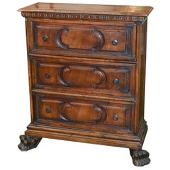 19th Century Italian Carved Narrow Chest