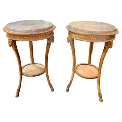 19th Century Italian Carved Pine Neoclassical Tables