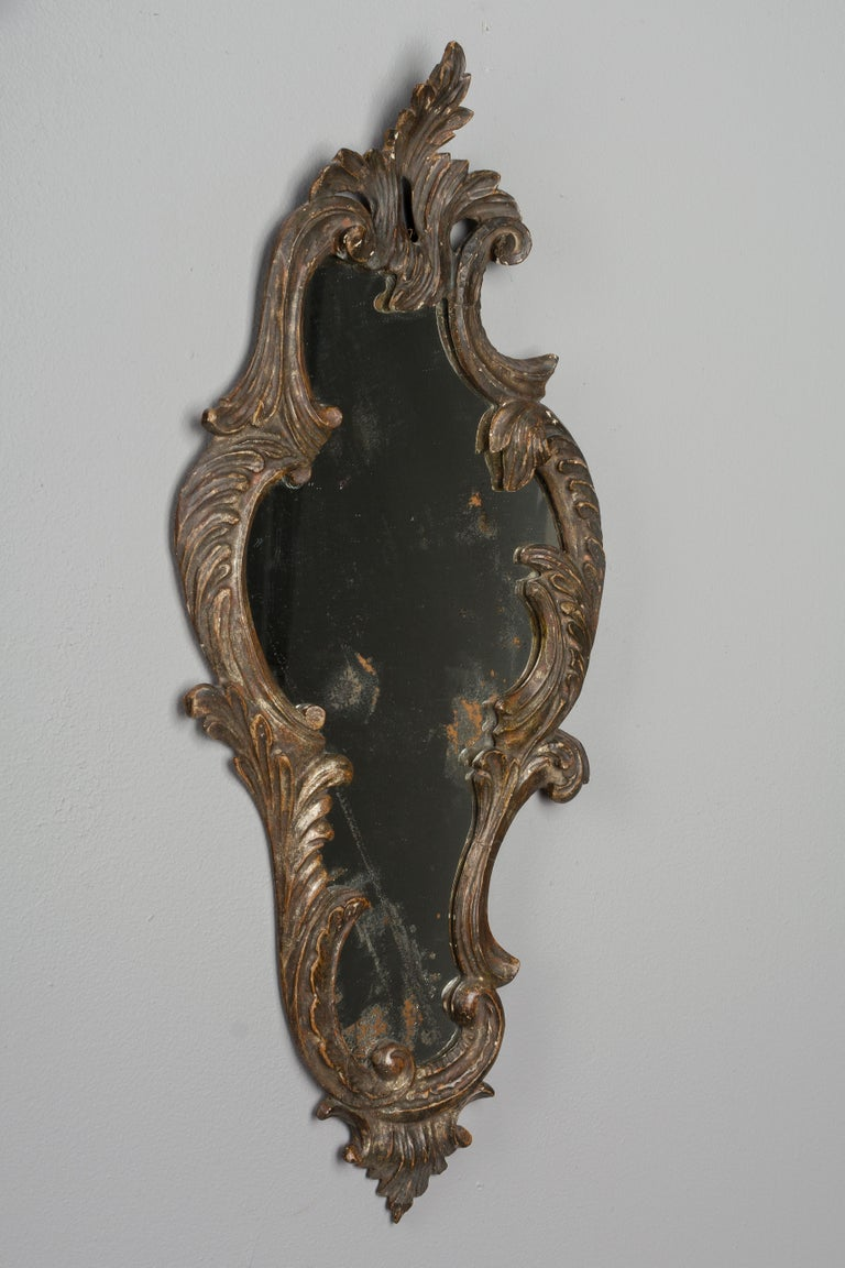 19th Century Italian Carved Wood Mirror In Good Condition For Sale In Winter Park, FL