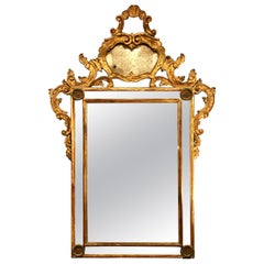19th Century Italian Carved Wood Mirror